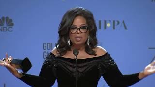 Oprah Winfrey - 2018 Golden Globes - Full Backstage Speech