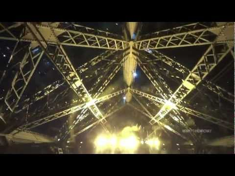 TOUR OF EIFFEL TOWER LIFTS/elevators - part 3 of 3 (night visit)