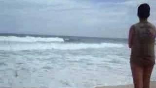 Myllene na praia c/família