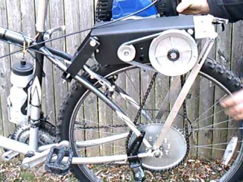 friction drive chain drive bicycle engine kit PROTOTYPE VID 1 of 2