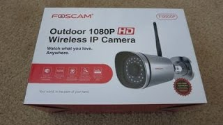 Foscam FI9900P Outdoor HD 1080P Wireless Camera Unboxing Review and Setup