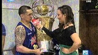 LOCKER ROOM CELEBRATION with Erika Padilla - PBA Philippine Cup Finals 01/16/13