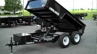 Bri-Mar DTR610LP-10 6' X 10' Low Profile Rascal Dump Trailer - TrailerEnterprises.com