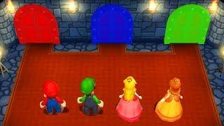 Mario Party 9 - Mario vs Luigi vs Peach vs Daisy - Minigames