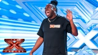 Jayson Newland sings Never Too Much by Luther Vandross -- Room Auditions Week 4 -- The X Factor 2013