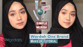 Makeup Simple Tanpa Bulu Mata Palsu || Wardah One Brand Makeup Tutorial