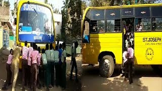 St. Joseph's school students forced to push their bus after breakdown
