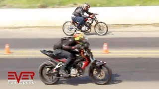 Pulsar NS 200 vs Yamaha RX tuning | Drag Races