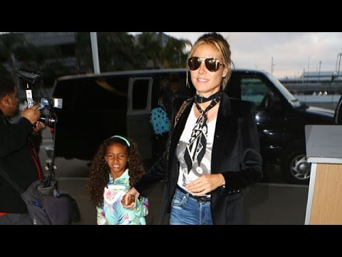 Sexy Mama Heidi Klum Jets Town With Children Lou And Henry