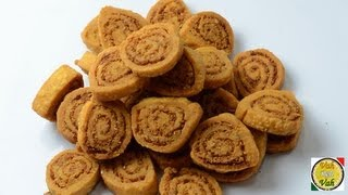 Easy Simple Indian Snack Bhakarwadi Recipe - By Vahchef @ vahrehvah.com