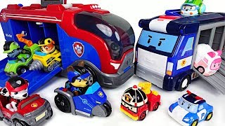 We need a moveing base! Paw Patrol Mission Cruiser and Robocar Poli Mobile Headquarter! - DuDuPopTOY