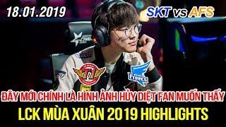 [LCK 2019] SKT vs AFS Game 1 Highlights | Faker tỏa sáng rực rỡ mang về chiến thắng hủy diệt