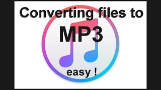 Converting iTunes music to mp3 files - EASY