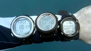 Suunto D4i vs Aeris F10 F11 | Freediving Watch Comparison