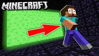 ESCAPE the SLIME WALL in Minecraft!