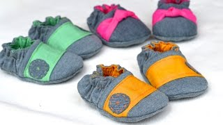 How to Make Baby Shoes - Reversible Crib Shoe Style!