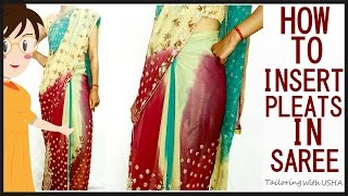 Pleats In Saree | How To Insert Pleats In Saree | Pleats For Saree Step By Step Tutorial