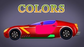 Sports Car | Learn Color | Learning Video For Kids