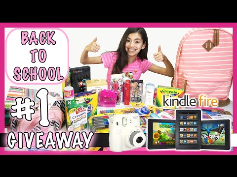 Girls Back to School Supplies Haul + Giveaway 2015 #1 | (Closed)