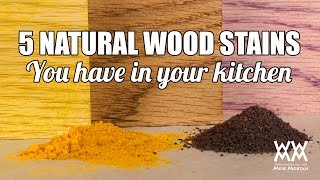 5 Weird Wood Staining Techniques. Natural Wood Coloring Hacks That Really Work.
