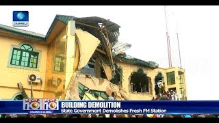 Oyo State Government Defends Demolition Of Fresh FM Pt.2 19/08/18 |News@10|