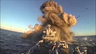 Norsk krigsskib sprængt i luften af missil