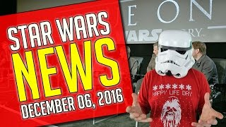 Star Wars NEWS - December 6, 2016 - Rogue One Clips, Battlefront Sequel, Carrie Fisher, and More!
