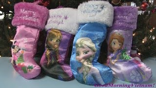 Những Chiếc Ủng Noel Công Chúa Tuyết Elsa, Anna, Minnie Mouse, Sofia The First Stocking Sock