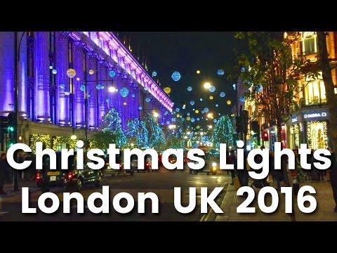 Oxford Street Christmas Lights, London December 2016