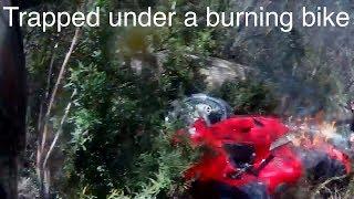 VFR800 Crash and Burn