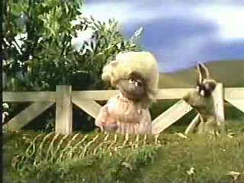 Sesame Street Polly Darton and Benny Rabbit