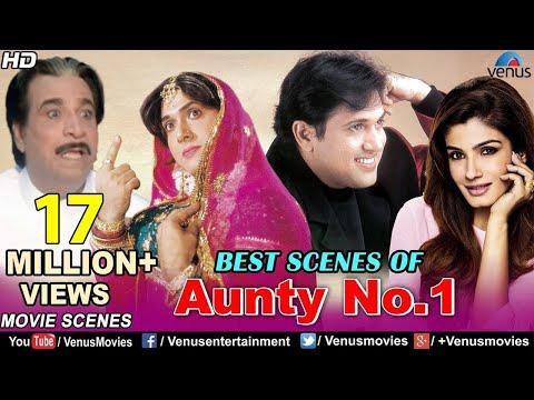 Best Scenes Of Aunty No.1   Govinda Movies   Raveena Tandon   Best Bollywood Comedy Scenes