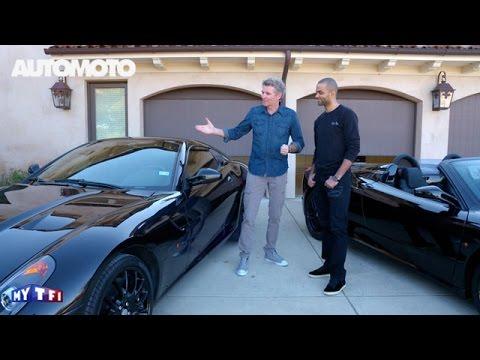 Tony Parker présente ses voitures dans Automoto !
