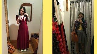 Vlogoween Six! Vintage Dress shopping! Clean hair :p