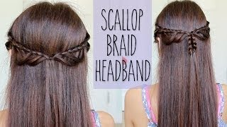 Scallop Loop Braid Headband | Hairstyle for Medium Long Hair Tutorial