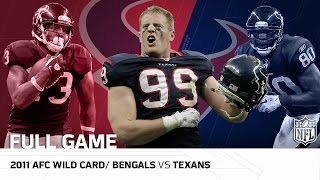 2011 AFC Wild Card: Cincinnati Bengals vs. Houston Texans   NFL Full Game