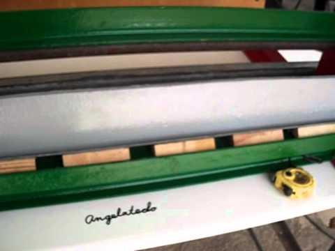 Plegadora o dobladora de chapa casera de guillotina 2 5 Medidas
