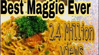 Best Maggie recipe ever🍝🍜 with extra yummy mayonnaise. New type of maggie