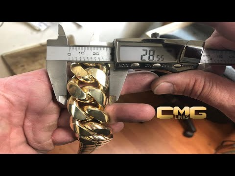 Birth of a Kilo II How a Two Kilo Cuban Link Chain is Made. Over 2000 Grams of 10K Solid Gold