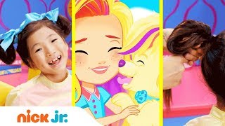 How to Make Puppy Ears 🐶 Style Files Hair Tutorial  | Sunny Day | Nick Jr.
