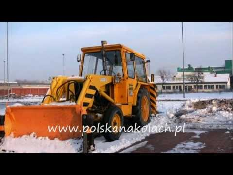 Ursus C360 pług śnieżny na bazie Ursusa C 360 i Ostrówka