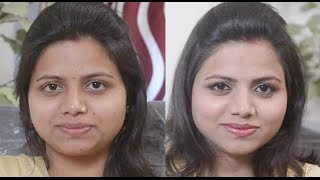 Basic Eyemakeup & lipstick tutorial in HINDI:How to apply eyeliner and lipstick