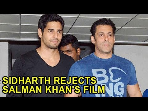 Xxx Mp4 Sidharth Malhotra REJECTS Working With Salman Khan SHOCKING 3gp Sex