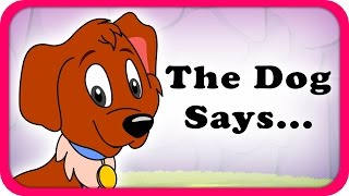 The Dog Says Bow Bow Lyrical Video | English Nursery Rhymes Full Lyrics For Kids & Children