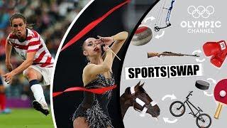 Football vs Rhythmic Gymnastics: Margarita Mamun & Heather O'Reilly Switch | Sports Swap Challenge