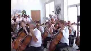 Orchestra sinfonica di Basilea a Campobello di Mazara. Le prove