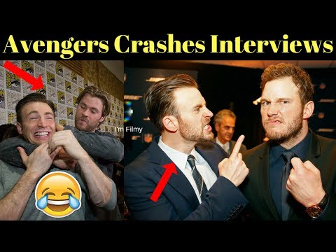 Avengers 4 End Game Cast Crashes Interview Unseen Funny Moments 2017