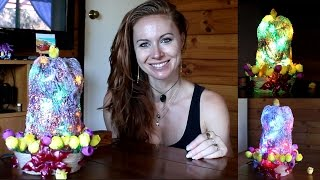 DIY recycling idea for plastic bottle - How to make a lamp with an icy appearance
