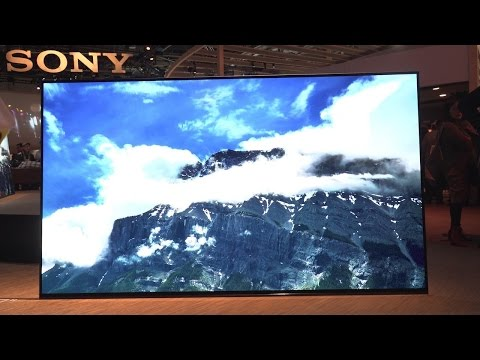 Eyes On Sony s Sexy 4K OLED TV Is Also a Glass Speaker CES 2017