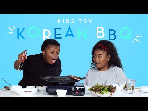 Kids Try Korean BBQ Kids Try HiHo Kids